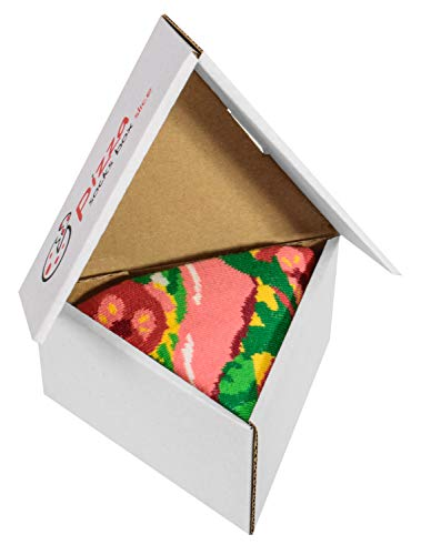 Pizza Socks Box Slice - Italienische - Damen Herren Pizza Socken 1 Paar - Größen 36-40