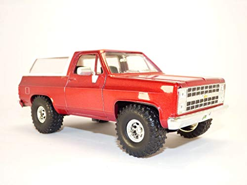 Jada Toys Just Trucks 1:24 1980 Chevrolet Blazer K5 Die-cast Car Metallic Red, Toys for Kids and Adults