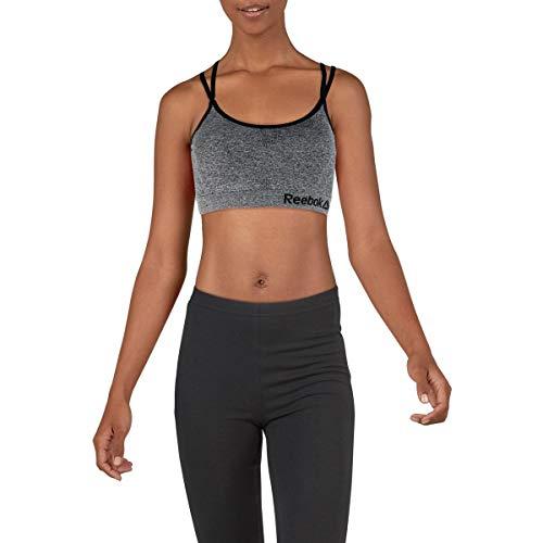 Reebok Womens Medium Support Fitness Sports Bra Gray XL