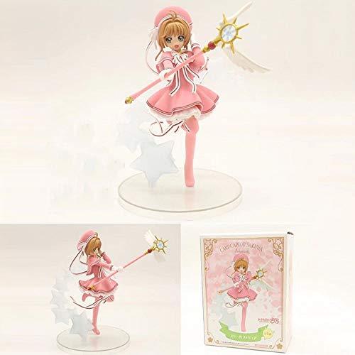 Action Figure Card Captor Sakura Collection Animato Carattere di Modello Statua Decorazione (17CM) - Regali di Compleanno per Bambini A