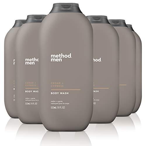 Method Mens Body Wash, Cedar + Cypress, 6 Count