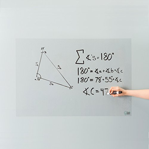 Think Board Clear Whiteboard Wall Sticker 2'x3' – Self-Adhesive Transparent Peel & Stick Decal – Dry Erase Removable Message Board for Home, Office & Dorms – Great for Organizing & Brainstorming 24x36