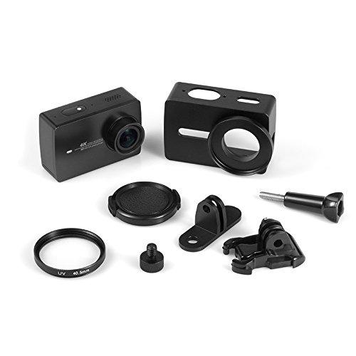 Rhodesy Aluminum Alloy Case for Xiaomi Yi 4K/ 4K+/ Yi Lite, Protective Cage Housing Frame Case for Xiaomi Yi 4K/4K+ Action Camera 2