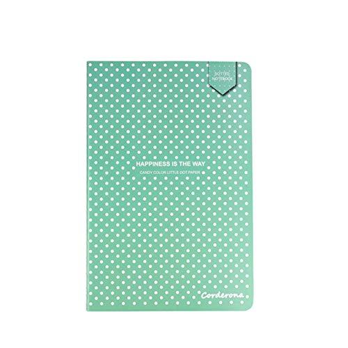 Miner A5 Cute Candy Color Dot Grid Journal Dotted Bullet Notebook Cubierta Suave Papelería Planificador de Viajes Diario