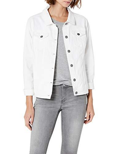 Cecil 210681 Hedda Giacca in Jeans, Bianco (White 10000), (Taglia Produttore: S) Donna