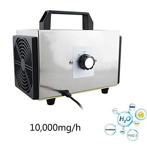 LYBC Purificador de Aire Generador de ozono Ionizador,Máquina de desinfección 10000mg/h,Limpiador de formaldehído,con Temporizador,Ahorro de energía