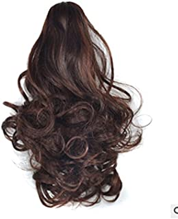 Hairpieces Hairpieces 90g/25 cm Women's Curly Clip in Claw Wig Ponytail Hair Extension Realistic Synthetic Hairpiece for Daily Use and Party (Color : Chestnut Color)