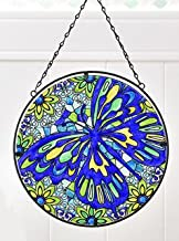 Gift Craft Large Multicolor Glass Suncatchers (Butterfly)