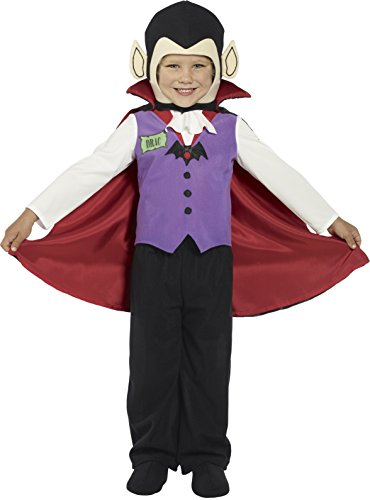 Smiffy's Costume Enfant Vampire Violet - Taille 3/4 Ans