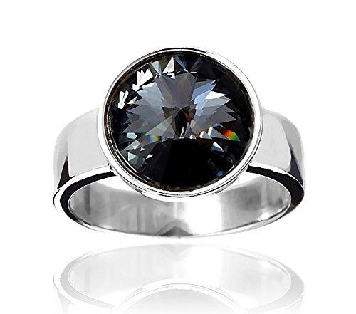 Swarovski Kristalle Silver Night Paris Ring Sterling Silber 925 Zertifikat
