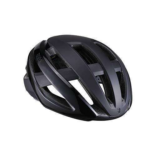 BBB Cycling Casco Unisex Maestro BHE-10 para Bicicleta de Carretera MIPS Ligero y Ajustable, protección de Seguridad Certificado CE para Hombre y Mujer, Color Negro Mate, Talla Grande (58-62 cm), L