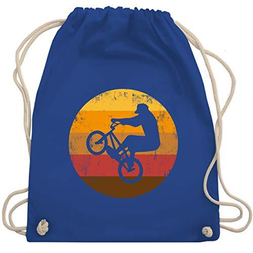 Shirtracer Fahrrad Bekleidung Radsport - Vintage BMX - Unisize - Royalblau - Geschenk - WM110 - Turnbeutel und Stoffbeutel aus Baumwolle