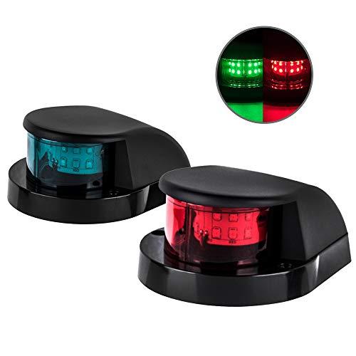 Sebnux LED Boat Navigation Light Boat Port and Starboard Navigation Light for Pontoon and Fishing Boat (Black)