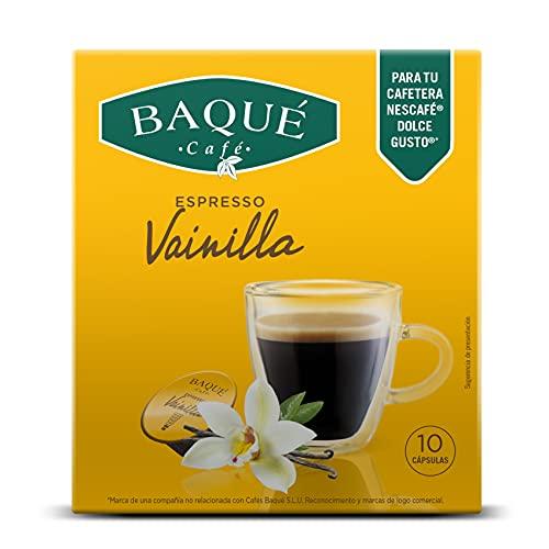 Cafés Baqué - Vainilla Cápsulas Compatibles Con Dolce Gusto (pack De 4*10 = 40 Cápsulas)