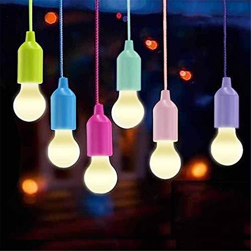 Kylewo 6 Stück LED Campinglampe, Camping Licht Camping Hanging LED Lampe für Wandern, Angeln, Camping, Zelt, Garten, BBQ, Batteriebetrieben (AAA