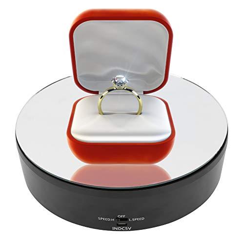 Da Dini Vitrine de 10 kg pour affichage de bijoux électrique USB rotatif à 360 degrés