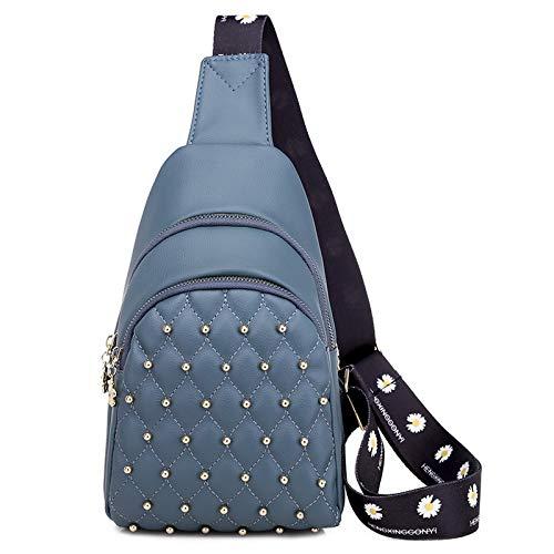 Armiya Small Sling Bag For Women Girls,Chest Pack Crossbody Bags Travel Shopping Date School (Blue)