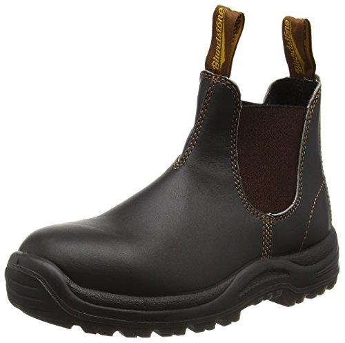 Blundstone Steel Toe Cap, Unisex-Erwachsene Sicherheitsstiefel, Braun (Brown), 43.5 EU