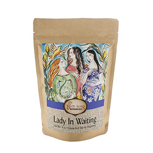 Birth Song Botanicals Lady in Waiting Morning Sickness Tea with Organic Red Raspberry, 40 Servings