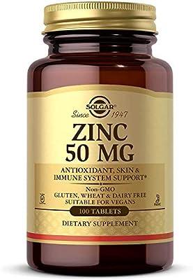 Solgar – Zinc 50 mg Tablets
