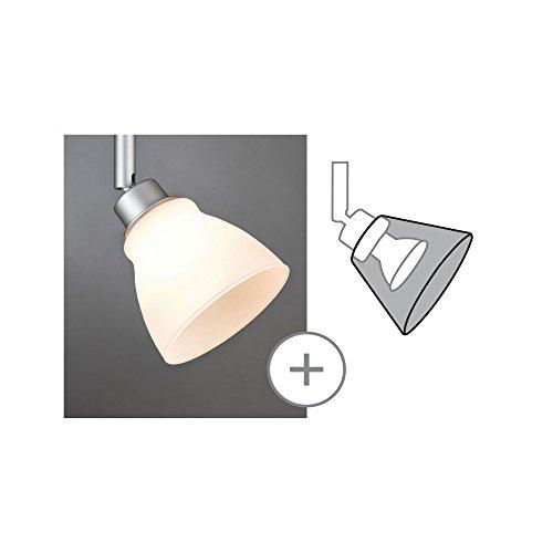 Paulmann 600.07 DecoSystems Schirm Wolbi max. 50W Glas/Weiß 60007 Glasschirm Zubehör Ergänzung