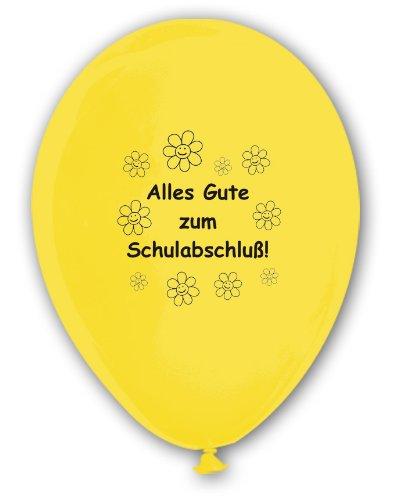 10 Luftballons Alles Gute zum Schulabschluß, bunt sortierte Mischung, ca. 30 cm