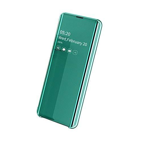 Modern Smart Spiegelmantel HandyhüLle Hochwertige Handy HūLlen Klapp Handy HüLlen PanzerhüLle Sicher SchutzhüLle Schirm Case Cover Geeignet FüR Samsung Galaxy Note10 6.3Inch