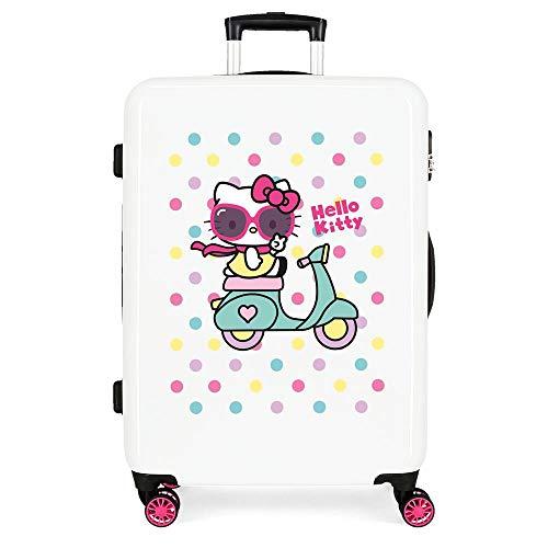 Hello Kitty Girl Gang Maleta Mediana Rosa 48x68x26 cms Rígida ABS Cierre combinación 62L 3,3Kgs 4 Ruedas