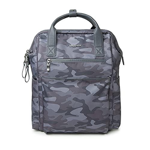 Baggallini Soho Rucksack für Damen, Dunkelgrau-Camouflage, Einheitsgröße