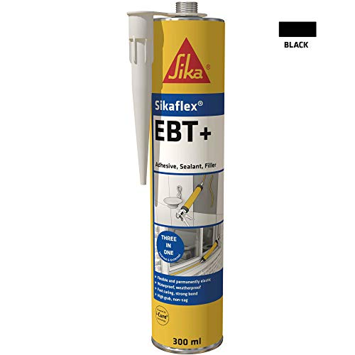 Sikaflex EBT+ Three In One Adhesive, Sealant and Filler, Black, 300 ml