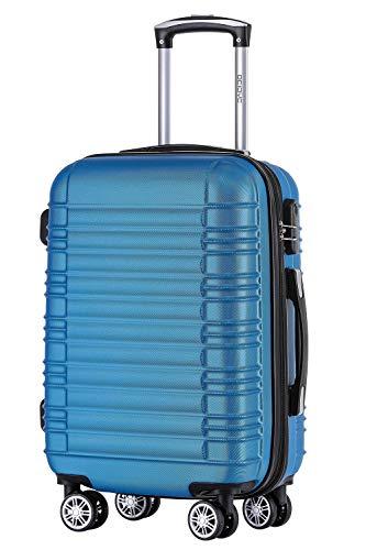 BEIBYE 2088 Zwillingsrollen Reisekoffer Koffer Trolleys Hartschale M-L-XL-Set in 13 Farben (Turquoise, L)