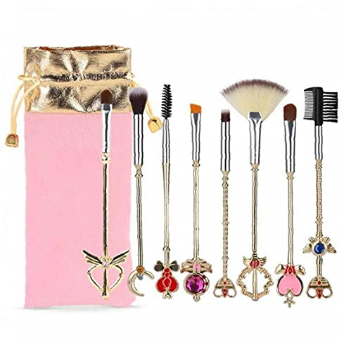 Brosse Kit 8 Pcs Sailor Moon Maquillage Soft Brosses Maquillage Pinceaux Poudre Magique Maquillage Cosmetic Tool