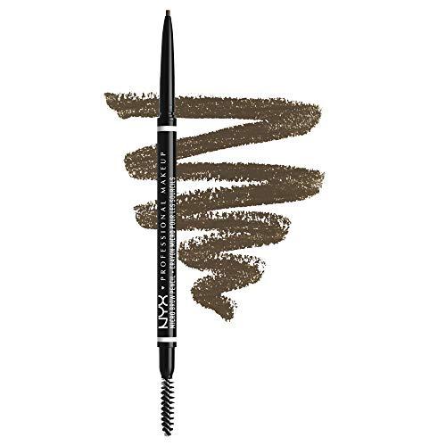 NYX Professional Makeup Micro Brow Pencil, Beidseitig mit ausdrehbarem Augenbrauenstift und Bürstchen, Vegane Formel, Farbton: Ash Brown