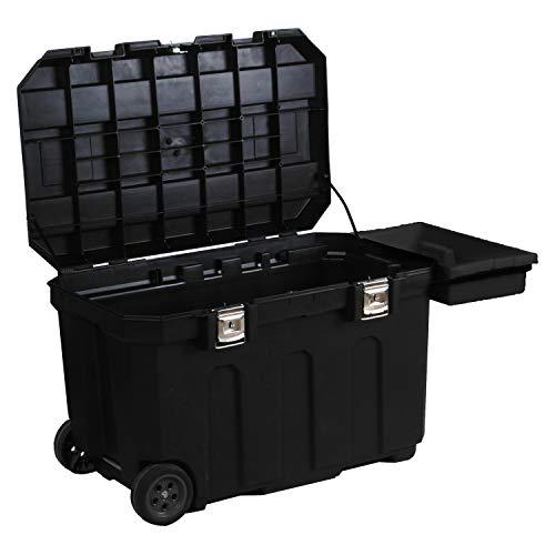 Preisvergleich Produktbild Stanley Werkzeugbox (96, 2 x 59, 1 x 57, 8 cm,  robust und mobil,  190l Stauraum,  belastbar,  Koffer mit Metallverschlüssen,  Box mit herausziehbarem Handgriff) 1-93-278