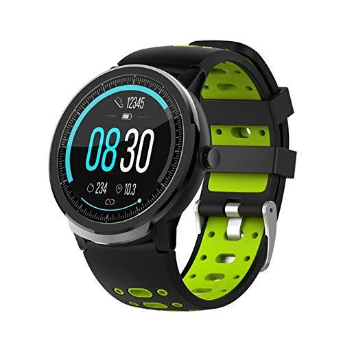 S10pro Smartwatch für Herren und Damen, Sportuhr, Herzfrequenzmesser, Schlafüberwachung, wasserdicht, für iOS und Android, Grün