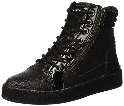 Guess Vanda Sneaker a Collo Alto Donna, Nero Black, 37 EU
