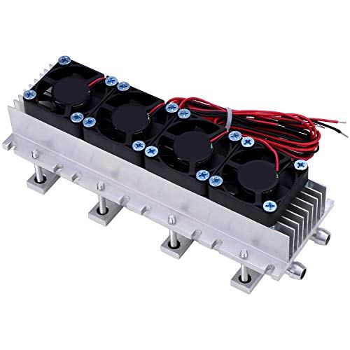 ESUMIC DIY 12V 288W Thermoelectric Cooler Refrigeration Air Cooling Device 4-Chip TEC1-12706 peltier Cooler with Fan