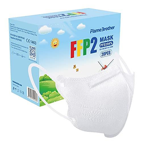 SOYES FFP2 Maske CE Zertifiziert - 4,52 * 2,8 Zoll 20 Stück FFP2 Masken 4 Lagige Mundschutzmaske - EN 149 Staubschutzmaske (Rosa/Schwarz/Weiß) (Weiß)
