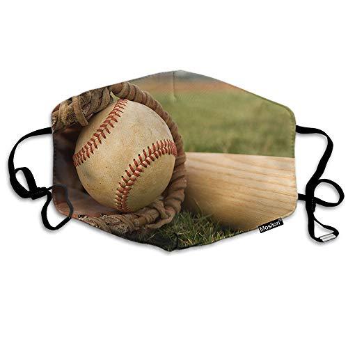 F Honkbal Masker Sport Honkbal In een handschoen In de buurt van de Bat Ball Mitt Mouth Mask Unisex Maskers Herbruikbare Wasbaar Polyester Anti-Stof Masker voor Mannen Vrouwen Buiten