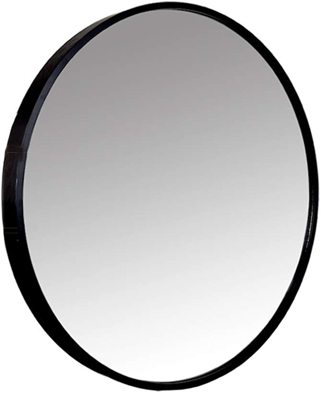Round Aluminum Alloy Border Bathroom Mirror Makeup Mirror Explosion-Proof Wall Hanging Decorative Silver Mirror (3 color, 3 Size)