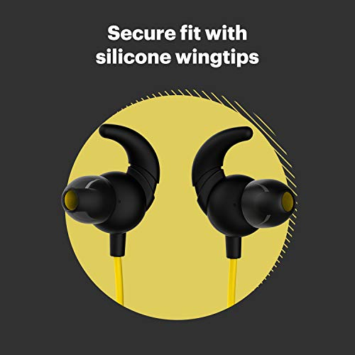 Noise Tune Active Bluetooth Wireless Headset with Upto 10 Hour Playtime, IPX5 Water Resistant, 10mm Dynamic Drivers for Great Wireless Sound (Pop Yellow)