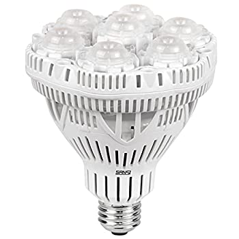 SANSI Grow Light Bulb with COC Technology PPF 65.6 umol/s LED Full Spectrum 36W Grow Lamp  400 Watt Equivalent  with Optical Lens for High PPFD Energy Saving Plant Lights for Seeding and Growing