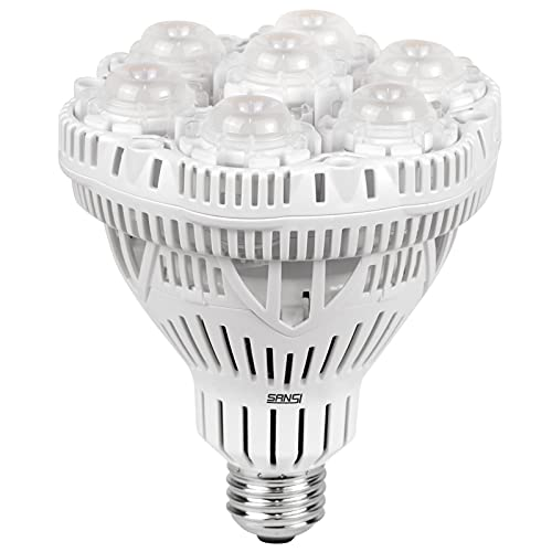 SANSI Grow Light Bulb with COC Technology, PPF 65.6 umol s LED Full Spectrum, 36W Grow Lamp (400 Watt Equivalent) with Optical Lens for High PPFD, Energy Saving Plant Lights for Seeding and Growing