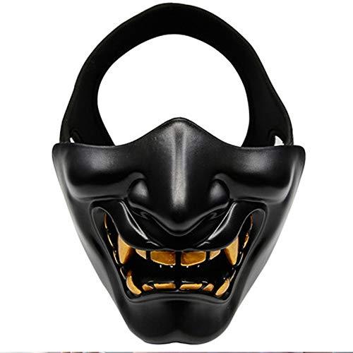 yzf La máscara de Media Cara: un tamaño es el más Adecuado para el Juego de CS/Caza/Disparar la máscara de protección Debajo de la Cara, máscara Ideal para Halloween, Juego de Roles