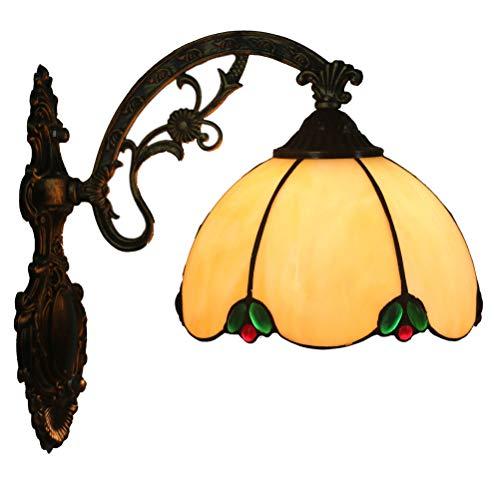 FABAKIRA Applique Européenne Creative Tiffany Lampe de Support Lampe de Cuivre Corps pour Chambre De Mariage Décoration Lampe Murale 8 pouces
