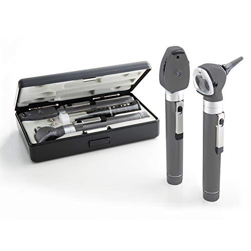 "ADC Otoscope/Ophthalmoscope Diagnostic Set, Pocket Size, LED Lamp, 2.5V, Hard Case, Diagnostix - 5110NLG , Gray ,7 1/4"" x 4 1/2"" x 1 1/2"""