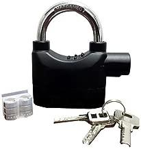 FEDUS Metal Secure Anti Theft Motion Sensor Alarm Lock with 3 Keys (Medium, Black and Nickel)