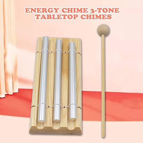 Energy Chimes 3-reihig Ton,Glockenspiel Xylophon Kinder Metall,Klangstäbe Schlägel - Musikschule Holzinstrumente Effetinstrumente Schlaginstrument Klangstäbe