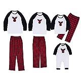 Pijama Familiar de Navidad Invierno Dos Piezas Pantalon y Camiseta Conjunto Mama Papa y Bebe Ropa Igual para Toda la Familia Sleepwear Traje de Domir Pijamas Navideños Familiares 91916MAS