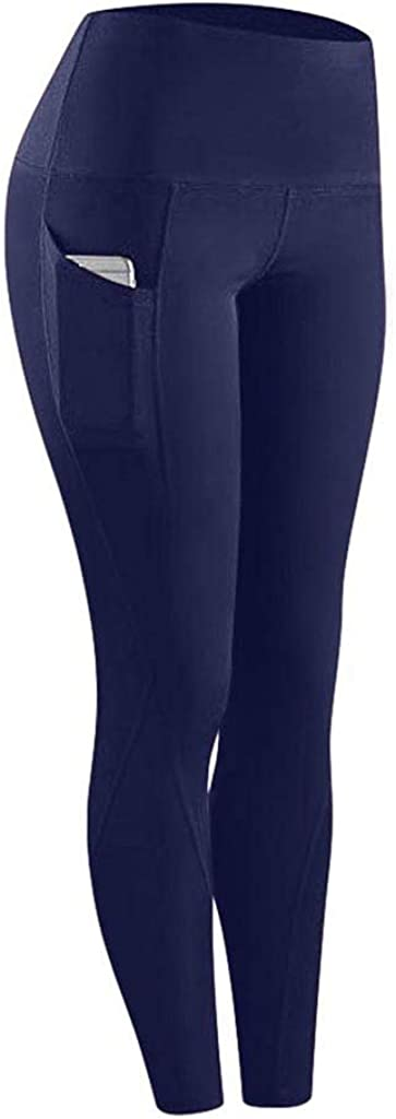 FUNEY High Waist Yoga Pants with Pockets, Tummy Control, Workout Pants for Women Stretch Yoga Leggings with Pockets